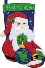"""Apliques de fieltro paz Santa Navidad Media Kit-dimensiones 18"""" largo"""