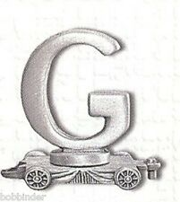 PEWTER LETTER G CAR FORT GIFT LASTING EXPRESSIONS x