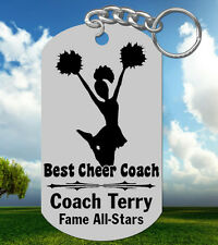CHEER Coach Keychain Gift, Personalized with their NAME & Team! Cheerleading