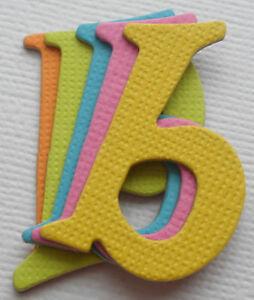 Lowercase *BRiTE COLORS* Chipboard Alphabet Letters Embellishment