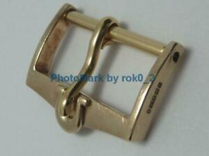 VINTAGE OMEGA 9K 9ct 9KT SOLID YELLOW GOLD 16mm Tang PIN Buckle Clasp!