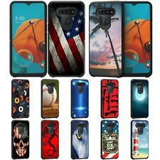 For LG K51 / Q51 / Reflect Hybrid Dual Layer Fitted Protective Slim Case