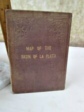 Vintage Folding MAP of The BASIN of LA PLATA,1853-56,Expedition of Thomas J.PAGE
