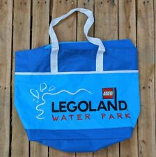 Legoland Water Park Blue Tote Bag Excellent Condition LEGO Embroidered Patch