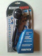 MICROFONO DINAMICO UNIDIRECCIONAL CON CABLE SONIDO DIGITAL JACK 3,5mm 6,3mm