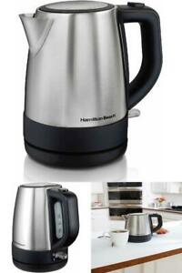 Hamilton Beach Electric Kettle Stainless Steel 1 Liter Hot Water in a Hurry!!