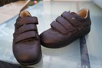 Finn Comfort Schuhe Prophylaxe Diabetiker Gr.7,5/  41 Leder braun Klett V TOP #8