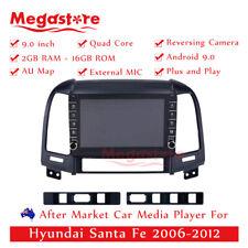 "9"" Quad Core Android 9.1 Car non dvd usb Player GPS For Hyundai Santa Fe 06-12"