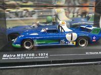 Matra MS 670 B   LE MANS 1974 #7 1:43  Pescarolo / larrousse  ixo altaya