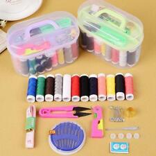 Sewing Kits Thread Threader Needle Tape Measure Scissor Thimble Box Bag Tool