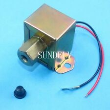 New 12V Universal Electric Fuel Pump Metal Solid Diesel or Petrol 4-6 PSI Square