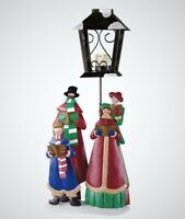 """Victorian Christmas Carolers Lamp Post Candle Holder Holiday Decor 20""""H"""