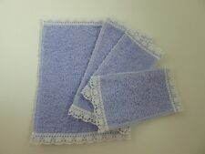 Dolls House Miniature 1:12th Scale Bathroom Accessory Lavender Towel Set 4pcs