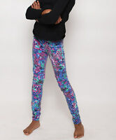 NWT Girls Ultra Slim Fit The Jeggings Psychedelic Floral Corduroy Pants 14