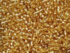 TOHO Perline 2,2mm 11/0 10g giallo oro argento foderato S/L Light Topaz Code: 22