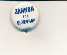 """1940 George Gannon for governor 1"""" Washington WA campaign button"""