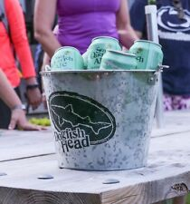 DOGFISH HEAD GALVANIZED STEEL ICE BUCKET SUPER COOL FOR OUTSIDE PARTY CHILLS HTF
