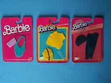 (3) 1983 Fashion Extras #4906 Vest Cap #4907 Hat & Leggings #7957 Purses Nrfp's