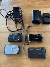 Lot Of 4 Digital Cameras Nikon Coolpix S7C S570 Fujifilm Finepix Z70 Casio Exili