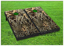 VINYL WRAPS Cornhole Boards DECALS Grass Camo Green Bag Toss Game Stickers 129