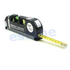 8FT Multipurpose Level Laser Horizon Vertical Measure Tape Aligner Bubbles Ruler
