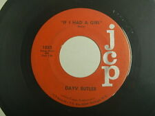 Garage pop rock 45 Dayv Butler - If I Had A Girl / Does your new boy cry Jcp 103