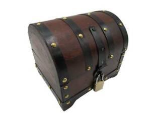 NBGS Schatzkiste mit Schloss Schatztruhe Truhe Holztruhe Holzbox Box  Geschenk