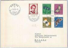 butterflie SWITZERLAND - POSTAL HISTORY: FDC Cover PRO JUVENTUTE 1951 in ITALIAN
