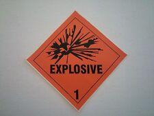 A Pair of 4 x 4 Explosive Decal Gun Safe Sticker DOT Label Man Cave Ammo Warning