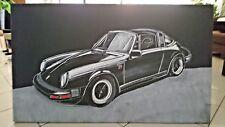 PORSCHE 911 TARGA ORIGINAL HAND MALEREI BILD AUF LEINWAND 103 x 61cm
