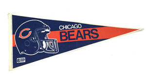 "NFL Chicago Bears 30"" Official Pennant 1980s 1990s William Perry Super Bowl"