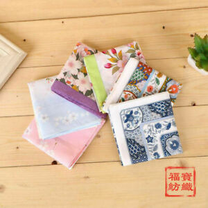100% Cotton Flower Pattern Handkerchiefs Square Pocket Hanky Men Women 45*45CM