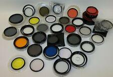 Huge Estate Lot of 33 Vintage Camera Filters