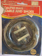 Vintage in Package Caliper Brake Cable and Shoes CC Bicycle Parts 1986 Replace