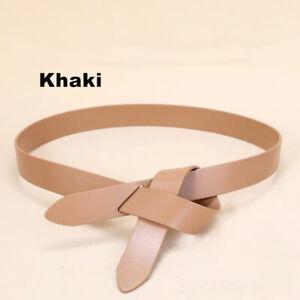 Women's Real Leather Waist Belt Wrap Around Self Tie Obi Cinch Waistband Boho