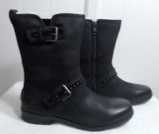 NEW UGG Leather Boots JENISE Black Women's Size 8
