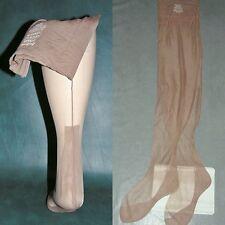 "3 VTG LANE BRYANT seamed nylon stockings outsize 10 1/2  X 36"" long plus size"