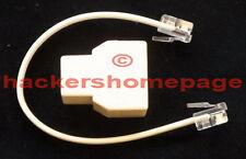 FM VHF Small Phone Bug Telephone Tap Spy Transmitter inside Telephone Splitter
