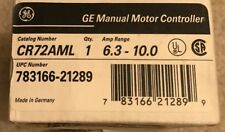 GENERAL ELECTRIC GE CR72AML THERMAL MAGNETIC STARTER MOTOR PROTECTOR   W