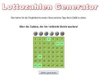 LOTTOZAHLEN Generator - PHP Script
