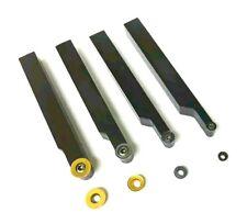12mm Shank Indexable Lathe Turning Tool Set  RCMT 12, 10, 8 & 6 Carbide Inserts