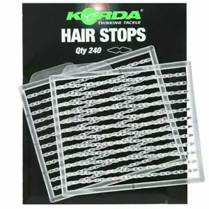 Korda Hybrid Hair Stops - Coarse Fishing Boile Bait Stops Clear 240
