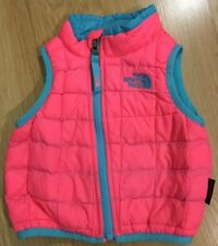 The North Face Full Zip Thermoball Vest Baby Toddler Size 3-6 Months Pink Blue