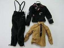 INPT 1/6 Toy WWII German Black wool panzer uniform for action figures