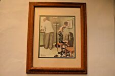 """Vintage Norman Rockwell """"Before the Shot� at The Doctor's Office Framed Print"""
