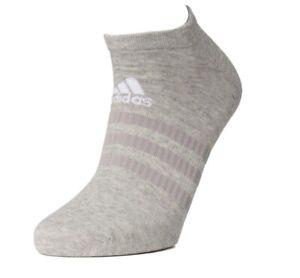 Adidas Running Sports Fitness Liner Ankle Socks - Mens Womens Ladies - Grey