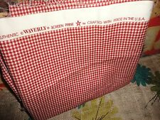 WAVERLY COUNTRY FAIR RED GINGHAM CHECK  FABRIC 56 X 35 (.972 YDS) not a yard