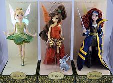 Tinker Bell & Zarina & Fawn  Disney Limited Edition Fairies Designer Dolls