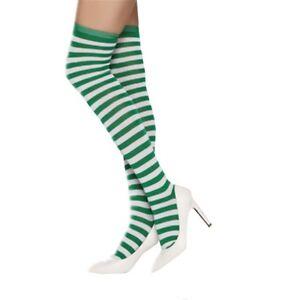 "22"" Women Girl Opaque Striped Long Warm extra stretch Stockings Knee High Socks"