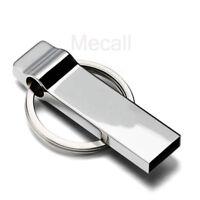 2TB 256GB USB 2.0 Flash Drive Memory Stick Pen U Disk Key Thumb Metal Keychain